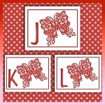 Red Butterfly Font JKL