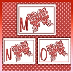 Red Butterfly Font MNO