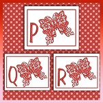 Red Butterfly Font PQR