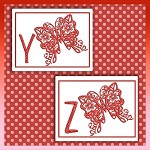 Red Butterfly Font YZ