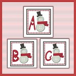 Sewing Snowman Font ABC
