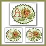 Sunflower Cross Font ABC