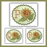Sunflower Cross Font PQR