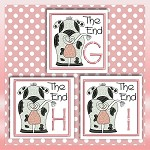 The End Cow Font GHI